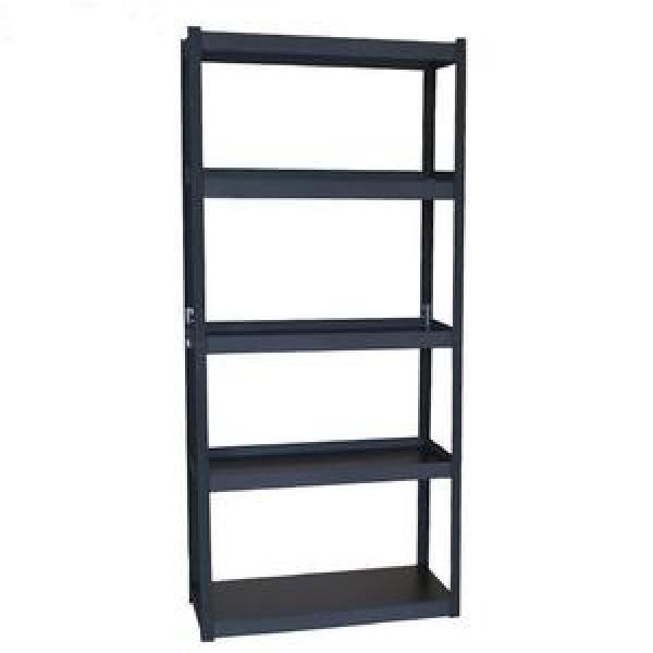 No Assembly Storage Shelves / Wood Steel Book Shelf Modern Portable 4 Tier Folding Bookshelf / Home Office Cabinet Industrial Standing Racks Folding Bookshelf